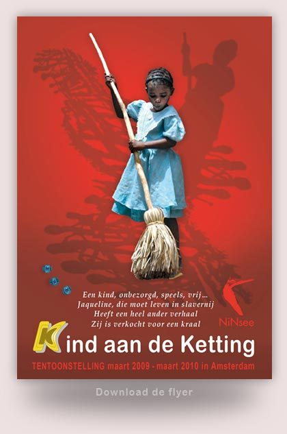 Flyer project kind aan de ketting